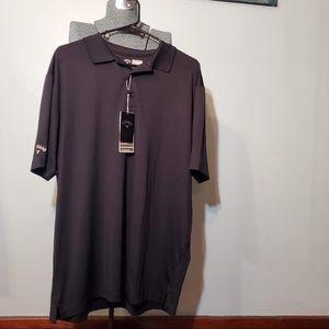 NWT Callaway polo golf shirt black